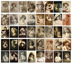 Available from Jodie Lee Designs: New Digital Product: Vintage Children Postcards!