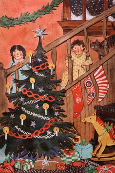 magical illustration of Christmas morning by Phoebe Wahl...... this makes me think of when me and my sisters were all very small.