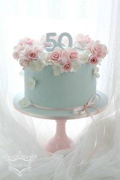50th Birthday Cake | by Leslea Matsis Cakes