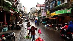 Morning business ... street life in Hanoi's Old Quarter.Photo: Getty Images