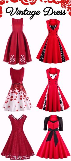 Red Vintage Dress | Start at $7.57 | Party Dress | Sammydress.com