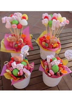 Baby Shower Ideas Decoracion Candy Bars Mesas 64 Ideas For 2019 Candy Party, Party Favors, Bar A Bonbon, Sweet Trees, Chocolate Bouquet, Candy Bouquet, Candy Table, Candy Shop, Birthday Decorations