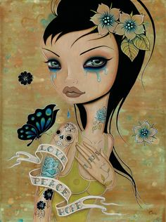 Caia Koopman.  My most fav artist, inspired my tat