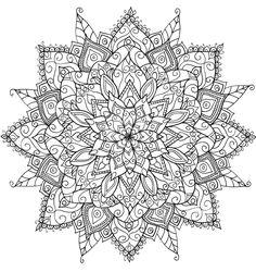Tekening: Mandala (Patroon-Kleurplaat-Prent-Sjabloon)