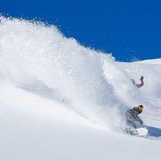 Double slash @stalesandbech and @nicolasmuellair enjoying a perfect powder day in Laax, Switzerland. Snowboarding Photography, Ski And Snowboard, Switzerland, Skiing, Waves, Winter, Powder, Mountain, Outdoor
