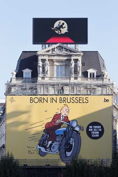 """Advert for the the World Premiere of  """"The Adventures of Tintin"""", in Brussels"""