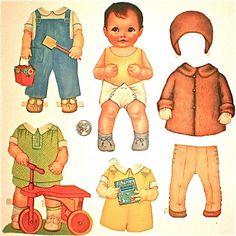 Paper Dolls Queen Holden Baby Brother Dolls by vintagedottirose Vintage Paper Crafts, Vintage Paper Dolls, Diy Paper, Paper Art, Kewpie, Baby Sister, Boy Doll, Paper Toys, Miniature Dolls