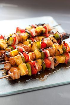 Grilled Chicken Teriyaki Kebobs