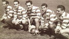 Os músicos da bola do Sporting: Jesus Correia, Vasques, Peyroteo, Travassos e Albano.