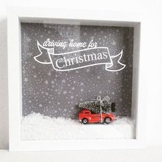 ikea weihnachten Cant wait to see those faces Driving Home For Christmas, Christmas Mood, Christmas Is Coming, Diy Christmas Gifts, Holiday Crafts, Ikea Christmas, Christmas Shadow Boxes, Christmas Frames, Frame Crafts