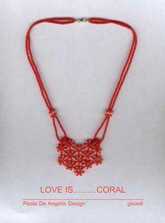 TESSITURE corallo e oro PaolaDeAngelis Design handMADEit <3 https://www.facebook.com/PaolaDeAngelisDesign/