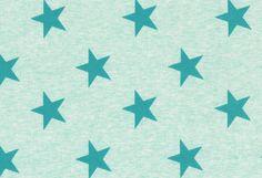 Jersey - Feinripp Jersey Stoff Sterne Westfalenstoffe - ein Designerstück von Valentina-Stoffe bei DaWanda