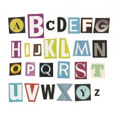 Printable alphabet cut outs alphabet magazine cutouts stock alphabet letters to cut out spiritdancerdesigns Choice Image