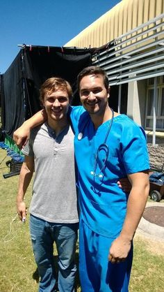 William Moseley with a costar from a film