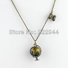 Hot Helling Vintage Jewelry Globe Telescope Alloy Pendant & Necklace For Women 2014-in Pendant Necklaces from Jewelry on Aliexpress.com