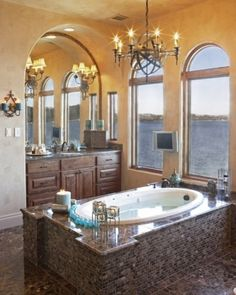 Ohhhh!  I want THAT bathroom!  The rest of the home could be a dump for all I care.  I'll live in the bathtub!