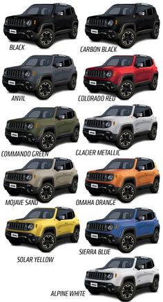 Image result for jeep Renegade colors