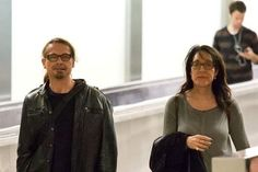 Katey Sagal Kurt Sutter et Katey Sagal à LAX