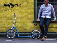 Swifty Scooters premium folding scooter / bike for adults by Camilla and Jason Iftakhar — Kickstarter