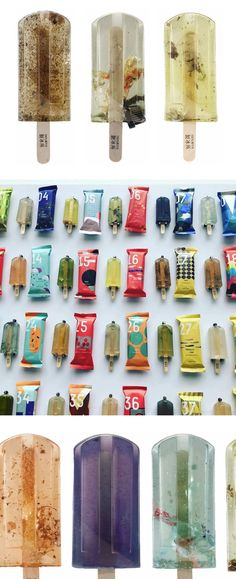 Polluted Water Popsicles: Faux Frozen Treats Highlight Taiwan's Water Pollution Problem