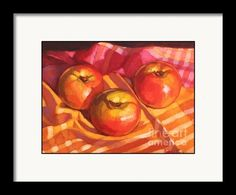 Framing suggestion for Three Apples Framed Print By Fiona Craig (the FAA watermark will NOT appear on the purchased product)
