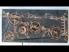Kinetisches Objekt / Kugelbahn aus Kupferdraht auf einer Schieferplatte ca.60x30 cm /Motorgetrieben www.draht-art.com Musik: I Feel You by Kevin MacLeod is l... #rolling-ball #installation