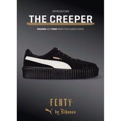 Rihanna X By Dames Winkel Voor Wit Puma Fenty Suede Creepers
