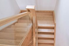 Stairs of a wide range of styles, all incorporating glass. Glass can be used to brighten up a room and create a modern style. View glass stairs here! Loft Staircase, Timber Staircase, Oak Stairs, Glass Stairs, Wooden Staircases, Wooden Stairs, House Stairs, Staircase Design, Loft Conversion Stairs