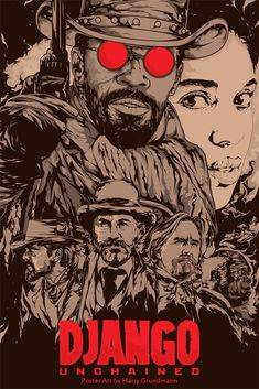 Django Unchained is a 2012 American western adventure film written and directed by Quentin Tarantino. Alternative Movie Poster for Django Unchained by Harijs Grundmanis. Best Movie Posters, Movie Poster Art, Cool Posters, Poster Drawing, Poster Poster, Cool Poster Designs, Poster Design Inspiration, Daily Inspiration, Films Cinema