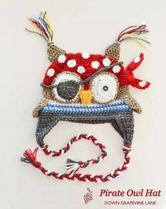 pirate owl hat...