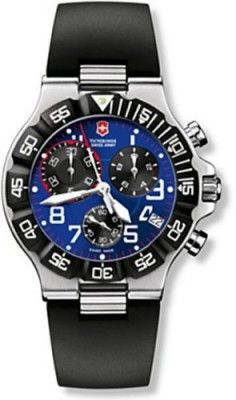 78a4aa6693b Relógio Men s Stainless Steel Victorinox Summit XLT Chronograph Blue Dial  Black Rubber Strap  Relogios
