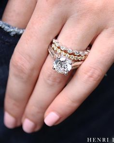 42 Top Round Engagement Rings: Best Rings Ideas %%page%% %%sep%% %%sitename%% Or Rose, Rose Gold, Rings Cool, Diamond Rings, Boho Chic, Vein Removal, White Gold, Wedding Rings, Future Wife