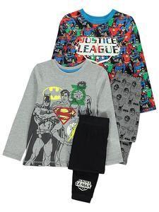 Boys Character Pyjamas Online: Justice League Pyjamas 2 Pack – Novelty-Characters