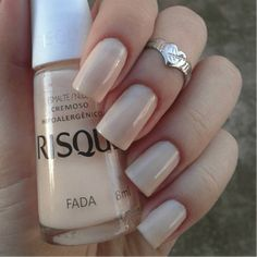 Risqué Fada Dont like the shape of her nails but the polish is nice! Fall Pedicure, Manicure And Pedicure, Hair And Nails, My Nails, Luxury Nails, Elegant Nails, Nude Nails, Nail Polish Colors, Simple Nails