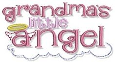 Grandma's Little Angel - 2 Sizes! | Angels | Machine Embroidery Designs | SWAKembroidery.com Bunnycup Embroidery