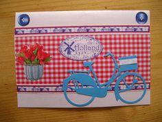 Gezellige kaart met typisch hollandse elementen.De fiets is van Marianne Design.