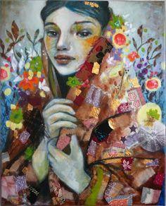 Anastasia- mixed media art on canvas- Leo-Vinh- 32,5x41 cm -2013