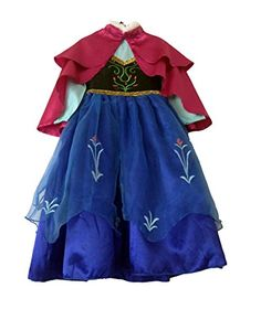American Vogue Princess FROZEN ANNA Costume Dress with Cloak (2/3T) >>> More info could be found at the image url.