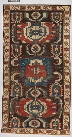 Caucasian Kuba rug, 18th c Fosterginger.Pinterest.ComMore Pins Like This One At FOSTERGINGER @ PINTEREST No Pin Limitsでこのようなピンがいっぱいになるピンの限界