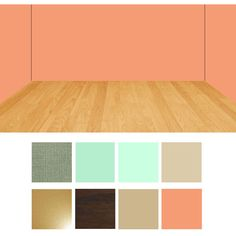 I have peach walls in every room of my house and don't know how to decorate around them...I guess these are the colors that I can decorate in. I can live with that. Peach wall room color combination swatches.