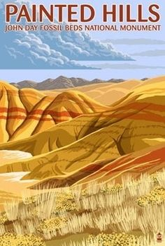 Painted Hills - John Day Fossil Beds, Oregon - Lantern Press Poster