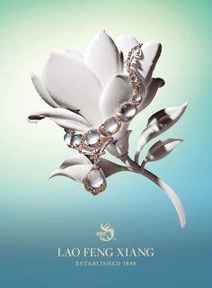 Luxury Fine Jewelry BrandLao Feng Xiang Advertising Campaign Creative Directionby Benard Creative.
