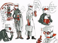 "linlin24: "" Gangster Flug full character design! He would be the doctor in charge of the organs and drugs trade. Will occasionally keep what he likes as souvenir. If anyone gets hurts in the family,..."