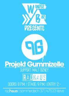 Projekt Gummizelle @ Radhaus Kleve :: Sa 16.11. :: Eintritt 2,- :: anschließend Wonderbar #radhaus #kleve #radhauskleve #projektgummizelle #rap #hiphop