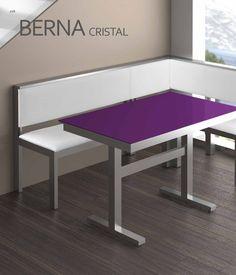 Rinconera de cocina con asientos tipo ba l y pie de mesa for Banco esquinero con mesa