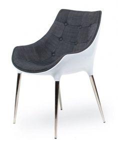Krzesło (fotel) Philipe Passion King Home, szary