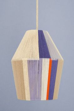 How To: Make a Glorious Woven Pendant Shade with Embroidery Floss! | Curbly | Bloglovin'