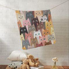 Cats Pattern Stroller Blanket - patterns pattern special unique design gift idea diy