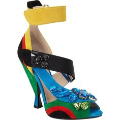 These colorful Prada sandals are a fun and splashy shoe perfect for Spring!