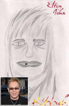 awful fan art Elton John